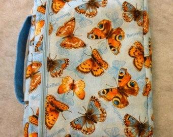Bible Cover Butterflies on Blue