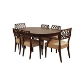 Midcentury Dining Table and Chairs Set by John Widdicomb