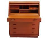 Dyrlund Danish Modern Rolltop Desk / Vanity / Dresser