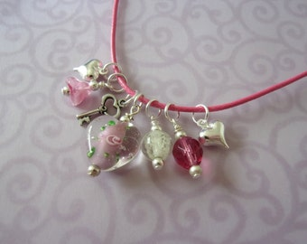 Girl Necklace, Glow in the Dark, Heart, Charm Necklace, Little Girl Jewelry