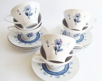 Noritake Melamine Ware, Cups and Saucer Set, Picnicware, Picnic Tea Cups, Made in Japan,