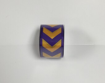 2.5 Inch Purple Yellow Chevron U305-1149, Deco Mesh Supplies
