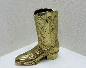 Vintage Cowboy Boot / Shoe Planter / Vase