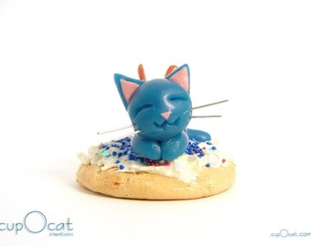Sugar Cookie Cat Fairy - A Red White and Blue Cat Fairy