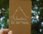 Handlettered Moleskine Journal - Adventure Is Out There