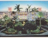 Vintage Postcard, Boca Raton Resort, Palm Trees, Blue Sky,  Color Postcard, Found Postcard, Old Postcard, Travel Postcard, EtsyPostcard 44