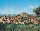 Vintage Postcard, Panoramic View of Assisi, Color Postcard, Old Postcard, Italian Postcard, Travel Postcard                 EtsyPostcard 115
