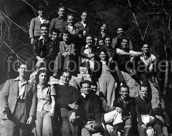 Vintage Photo, Black & White Photo, High School Class, Group Photo, Found Photo, Old Photo, Snapshot                         133215-Ph-6-093
