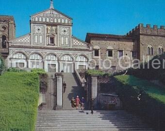 Vintage Postcard, Church, Florence Italy, Color Postcard, Found Postcard, Old Postcard, Travel Postcard, Religious Postcard