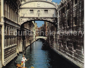Vintage Postcard, Venice Canal, Italy, Color Postcard, Found Postcard, Travel Postcard, Vacation Postcard, Old Postcard       IMG_0036