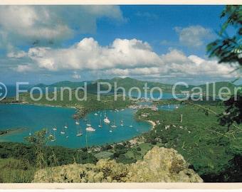 Vintage Postcard, Nelson's Dockyard, Antigua, Color Postcard, Vacation Postcard, Travel Postcard, Travel Ephemera IMG_0072