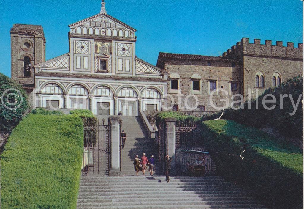 Vintage Postcard Church Florence Italy Color Postcard