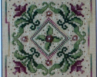 Pirouette In Purple - Sweetheart Tree - Designed by Sandra Cox Vanosdall - Cross Stitch Kit