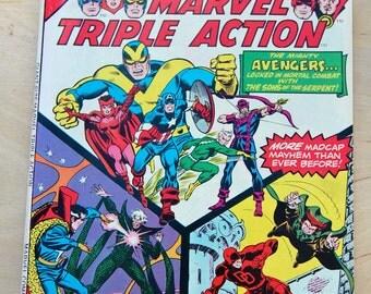 Marvel bronze age comic book. Giant Size Marvel Triple Action Vol 1 # 1 1975