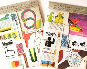 Glorious Graphics. A design-led paper-crafting kit with VINTAGE BOOK PAGES and coordinating extras