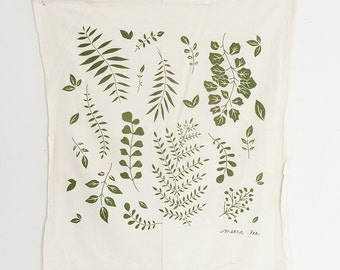 Ferns Floursack Tea Towel