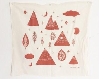 Mountains Floursack Tea Towel
