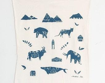 Animals Floursack Tea Towel