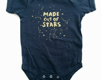 Made out of Stars Baby Bodysuit