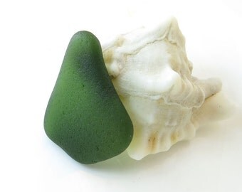 Undrilled Genuine Sea Glass - Unusual Shape- Beautiful Big Beach Glass Flat- Wrapping Jewelry Design