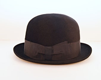 Vintage Borsalino Uranio Diamante - Felt Bowler - Derby - Formal hat with original hatbox
