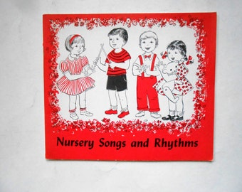 Nursery Songs and Rhythms, a Vintage Children's Church Song Book