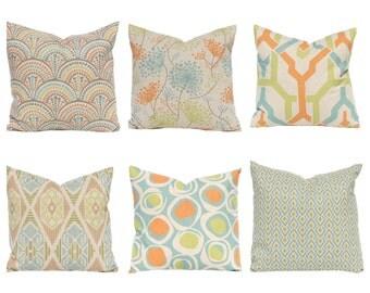 Fall Pillows - Linen Throw Pillow Covers - Orange PIllows - Decorative Pillow Covers - Pillow Shams - Orange Pillowcase - Thanksgiving Decor