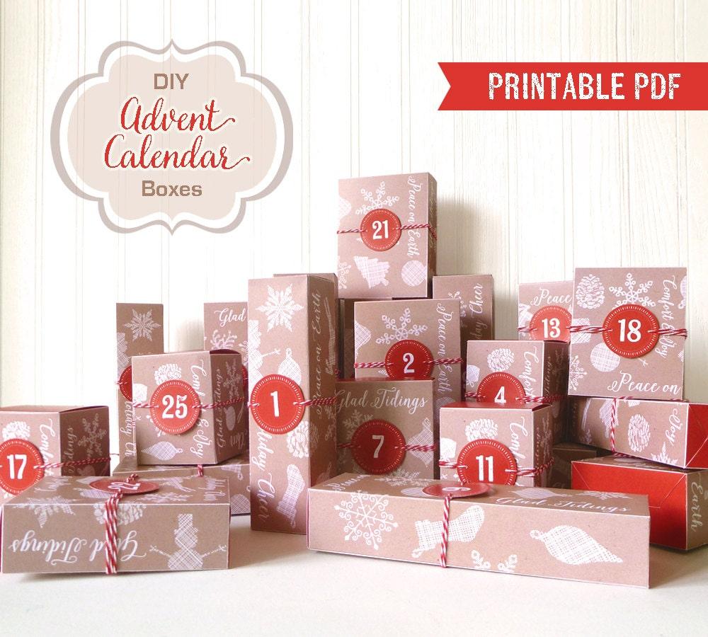 Advent Calendar Village Diy : Advent calendar printable boxes diy pdf
