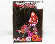 """1960s Pantyhose for Mini Skirts - New In Package - Dark Brown - Average Size - Fit 5'3"""" to 5'6"""" - Nylon Mesh - 60s Hosiery - 43995"""