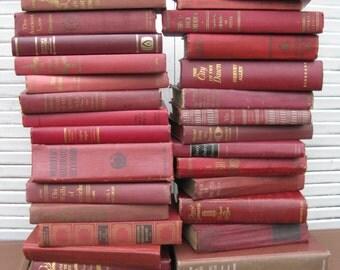 marsala book stack one yard high wine book stack wedding decor library decor