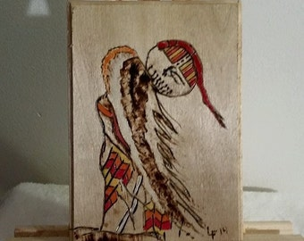 Wood Burned Plaque ( Sioux Chief )