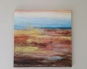 large abstract original painting, 36x36inch on stretched canvas, ready to hang