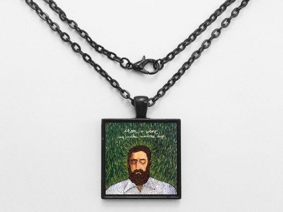 Iron and Wine -  Our Endless Numbered Days Album Cover Necklace OR Keychain