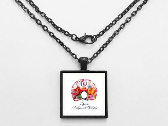 Queen - A Night At The Opera Album Cover Necklace OR Keychain