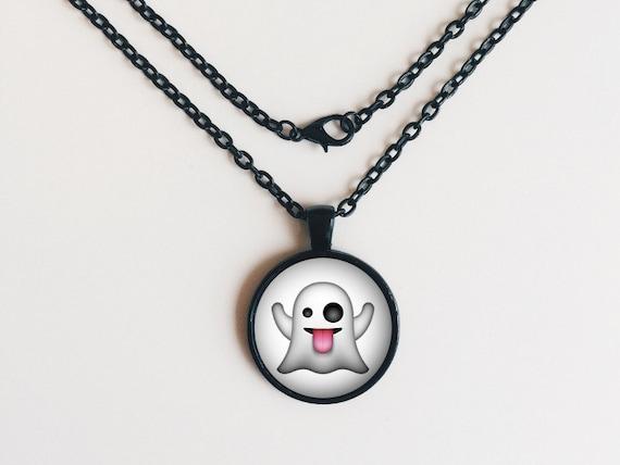 Ghost Emoji Necklace or Keychain