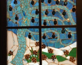 Snowy Night  Stained Glass Mosaic