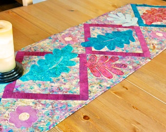 QuiltedTable Runner-Teal-TableLinens-Handmade