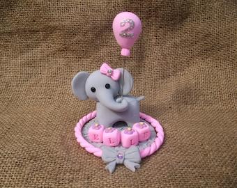 Elephant birthday cake topper
