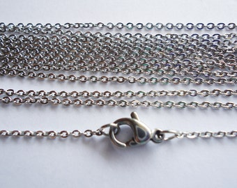 "18"" Stainless Steel Chains - 18"" Long x 1.5mm Wide - 10, 20, or 30 Finished Chains"