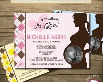 Ultrasound Baby Shower Invitation Boy Girl Neutral Printable