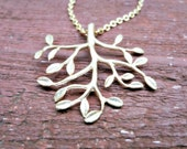 Gold Tree Necklace. Branch Necklace. Tree of Life Pendant. Large Tree Charm. Upside Down Tree. Tree Roots