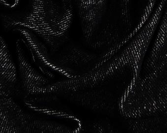 "Stretch Denim-65""-Black-Knit"