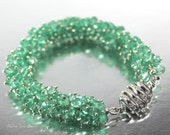 Emerald Isle ~ Emeralds, Emeralds and more Emeralds Sterling silver bracelet