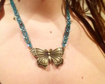 Butterfly Macrame Bohemian Necklace