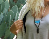 Tribal Breastplate Necklace //  Native American // Modern // Vintage // Boho // Rustic