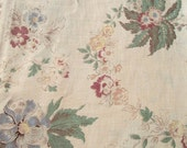 Beautiful pieces of Vintage French fabric tea stained sepia floral cottons 1930s faded chateau material
