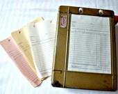 Ennis Receipt Register Industrial Mechanical Receipt Box with Blank Receipts1950's vintage