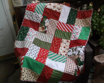 Christmas blocks quilt patchwork quilt