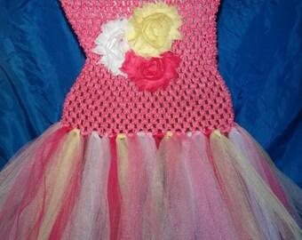 Pink Lemonade Themed Tutu Dress (Choose your size)