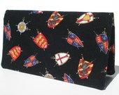Checkbook Cover, Coat of Arms, Gift For Him, Checkbook Holder, Wallet, Money, Shields and Swords, Checkbook
